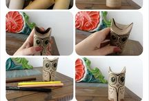 toilet paper roll   diy / You couldn't imagine what can be done with this everyday object that finish its life in the garbage most of the time. You will see your toilet paper roll differently now! / by Recyclart