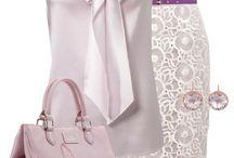 Kabelky ružové a fialové