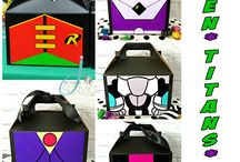 Teen Titans Go Party / These favor boxes are perfect for a Teen Titans Go birthday party! https://www.etsy.com/shop/Jatyourservice