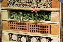 Bricolage jardin / hôtel à insectes,cabanes à hérisson,remises pour le bois, buchers