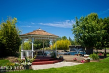 Oasis Gazebos / The Gazebo is such a beautiful spot for a photo op or a lovely little ceremony. See how our couples included it in their day!