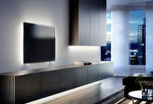 Hanging TV units