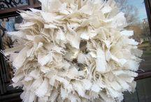 wreath in burlap fabric