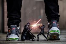 FOOTASYLUM x Ben Paras / To celebrate the release of the new Star Wars film we hooked up with Ben Paras, the sneakerhead making waves with his artwork. Full interview >> (http://bit.ly/1O8yWdN)  / by Footasylum