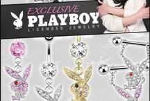 Playboy Piercing Jewelry / Officially licensed Playboy piercing jewelry.
