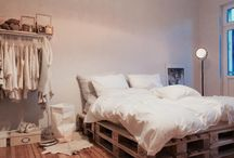 Paletten Bett
