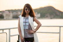 Collaboration I. - Roses & Laces / Photo: Tóth Ferenc Márk Shirt: musume Bag: Furla Vest: H&M Leather pants: Zara Pumps: Deichmann