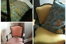 Painted painted / Painted furniture fabric cushions everything