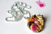 Fimo Necklaces / fimo, clay, modelina, sweets, cookies,