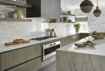 KITCHEN STYLING IDEAS / The styling in the kitchen softens new kitchens which can otherwise look quite hard. Beautiful kitchens. Some styled by Cullum Deign, others just images I love.
