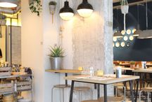 Interior / something blue , natural , gray ,classic black and white , loft, industrial