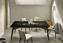 Dining tables by Ligne Roset / Current choice of some of the dining tables, rise fall tables and bar tables to order or in stock at Ligne Roset City