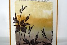 Watercolor background Stampin up