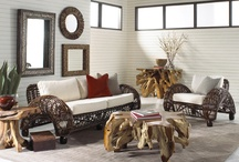"""Ibolili / Ibolili Natural Furnishings is a collection of fine handmade furniture, natural fiber lighting, decorative and fashion accessories in natural colors and fibers from around the world. Each piece is an eco-friendly, """"green"""" handmade work of art made of natural leaves, bark, wood, grass or sisal."""