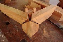Junção de madeira
