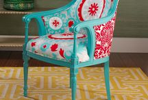 Teal, Turquoise & All the Blues Repurposed and Painting Furniture Makeovers