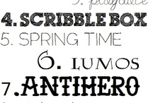 Fonts / by Jennifer Icenhour