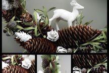 Christmas wreaths handmade at Killiecrankie Farm