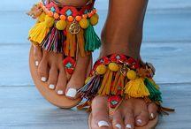 sandálias boho