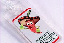 Fun Travel Luggage Tag Idea / Great idea for family reunions and corporate retreats.  Custom imprinting luggage tags make finding luggage quick & easy while adding unity to a group.  Free line changes, art work and email proof.  View at www.acrylinks.com