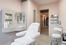 Medi Spas / This board showcases examples of medi spas or doctor's office waiting rooms, help desks, and treatment rooms that have a calming spa aesthetic.