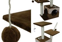 Pet Furniture Scratching Post Climbing Tower Kitten Cat Play House Exercise Home