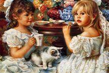 ART Children / Adorable artworks featuring children.  Please respect the artist's copyrights ... and enjoy.