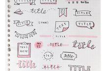 Bullet Journal Ideas ♀️