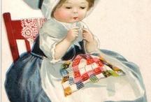 bilder på Damer Barn / Vackra bilder vykort på Damer Barn