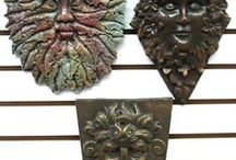 Green Man Wall Plaques / To attract a man into your life put a masculine image outside your front door, to the right as you are facing the door when standing outside. Green Man images are appropriate and popular with many people, but it's important that YOU like the image.