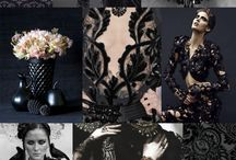 F/W 2017-2018 pattern & colors trends:BLACK BROCADE