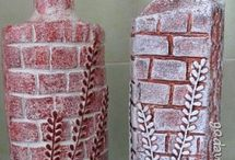Бутылки декор / Декор и декупаж бутылок