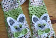 Cachecóis em Crochê e Tricô, Gorros, Luvas... / Scarves on Crochet and Knitting, Caps, Gloves ...