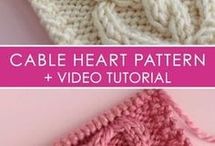 Knitted cable heart pattern