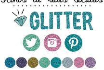 iconos de redes sociales glitter