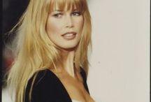 Claudia Schiffer hair
