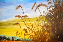 Rice field painting