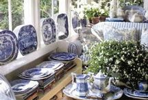 Dreamy blue and white