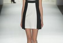 Dress in black & white