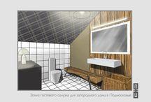 Эскизы интерьеров ванных комнат