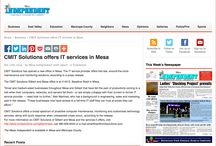CMIT in the News / Articles about CMIT Solutions of Gilbert and Mesa and the CMIT Solutions home office.