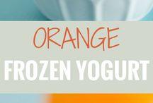 FROZEN YOGHURT...ORANGE