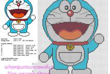 Doraemon cartoni animati schemi punto croce gratis / Doraemon cartoni animati schemi punto croce gratis, ricamo, ricamare...