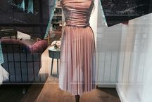 Our boutique window! / Featuring a selection if our gowns