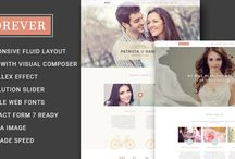 Wedding Wordpress Themes / Beautiful and elegant wordpress theme for personal wedding website, wedding organizer, or wedding company websites. Also suitable for any celebration, with responsive design feature.