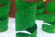 decorazioni natalizie in cartone