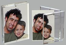"""Acrylic Magnet Frames, Magnetic Encasements, & Acrylic Sandwich Frames / Acrylic Magnet Frames, Magnetic Encasements, & Acrylic Sandwich Frames, Lucite Holders and Lucite Entrapments. Entrap your document or photo in a custom magnet frame. Custom size acrylic magnet display frames can be customized with you logo or message and can be used as """"Instant Embedments"""" In stock for shipment. www.lucitetombstones.com  401-841-5646 / by Lucite Deal Toys & Embedments"""