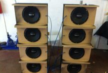 Bass boxes  / Some custom bass boxes for the party bus club