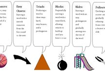 SLP: Fluency / Resources and treatment materials for clients with fluency disorders (e.g., stuttering, cluttering). Check out my blog for more ideas, http://slpmsb.blogspot.com/, and TpT for products, https://www.teacherspayteachers.com/Store/Ms-B-Slp
