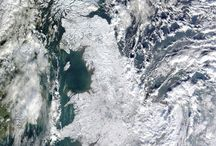 winter from satellite